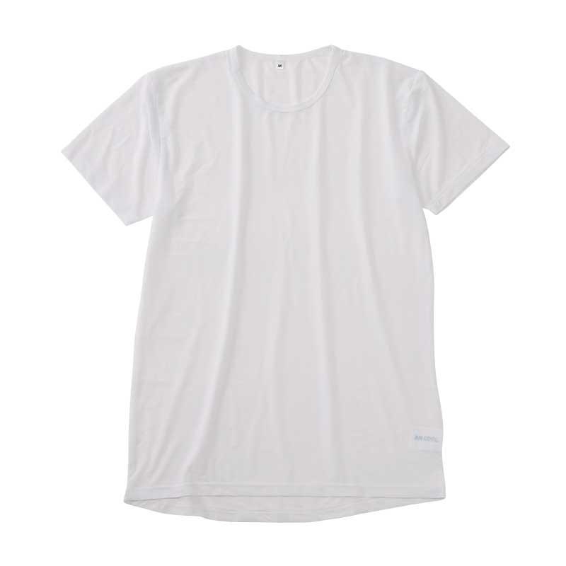〈AN COOL〉半袖丸首シャツ(接触冷感)
